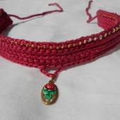 Бархотка с винтажным кулоном украшение на шею