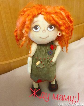 Кукла рыжуля ручной работы на заказ