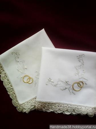 Салфетки для венчания (2 шт.) ручной работы на заказ