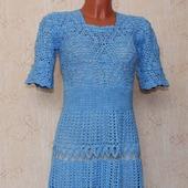 Платье крючком ажурное по мотивам платья Oscar De La Renta