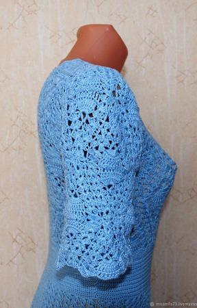 Платье крючком ажурное по мотивам платья Oscar De La Renta ручной работы на заказ