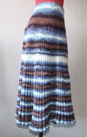 Юбка спицами плиссированная ручной работы на заказ