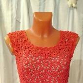 Платье крючком ажурное