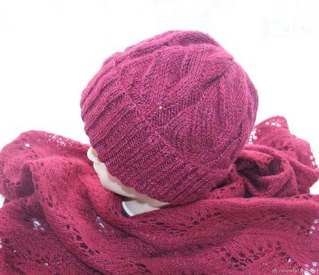 Комплект шапка + палантин ручной работы на заказ