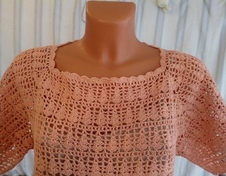 Вязаная крючком летняя блузка-топ ручной работы на заказ