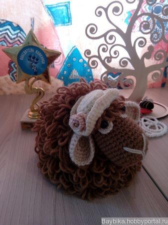 Игрушка Мечтательная овечка ручной работы на заказ