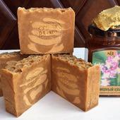 """Мыло """"Медовое"""" с мёдом и пчелиным воском"""