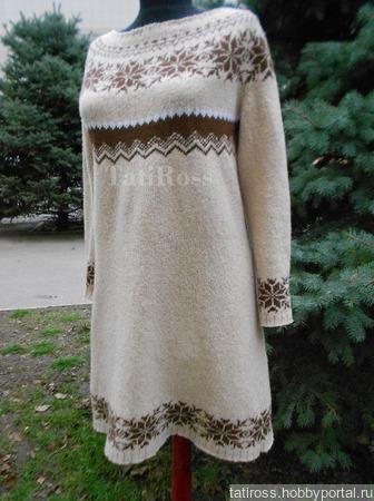 Платье из твидовой шерсти ручной работы на заказ