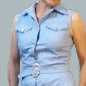 "Джинсовое платье-сарафан ""BLUE SKIES"" в стиле Сафари"