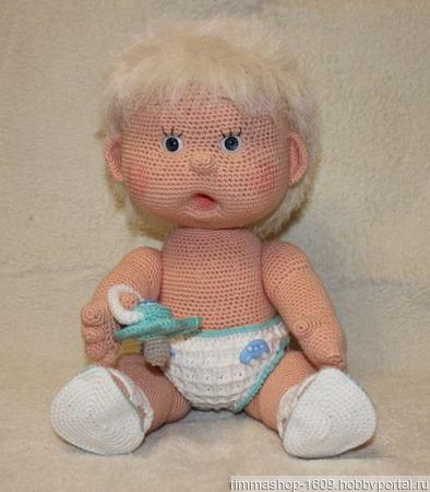Вязанная кукла Вовочка ручной работы на заказ
