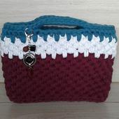 Женская вязаная сумка из трикотажной пряжи
