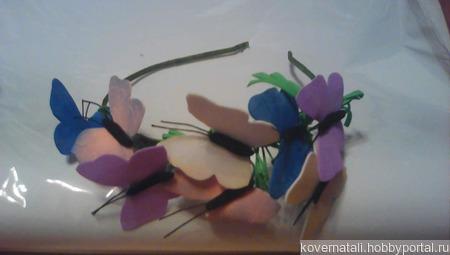 """Ободок """"Бабочки"""" ручной работы на заказ"""
