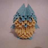 Совенок из модулей оригами