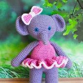 Слоняша в розовом платье