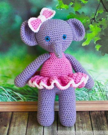Слоняша в розовом платье ручной работы на заказ