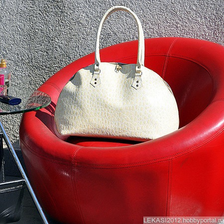 """Кожаная сумка с тиснением крокодила """"Charm"""" ручной работы на заказ"""