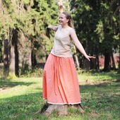 Батистовая юбка из 100% хлопка