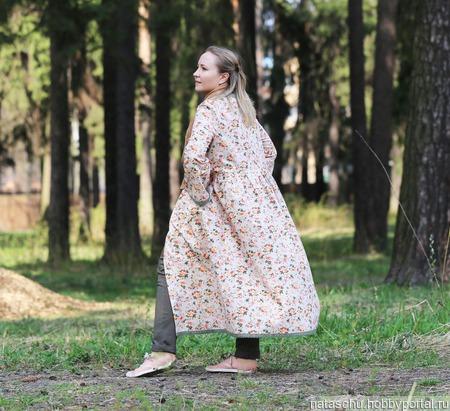 Платье-пальто летнее хлопковое в стиле бохо. ручной работы на заказ