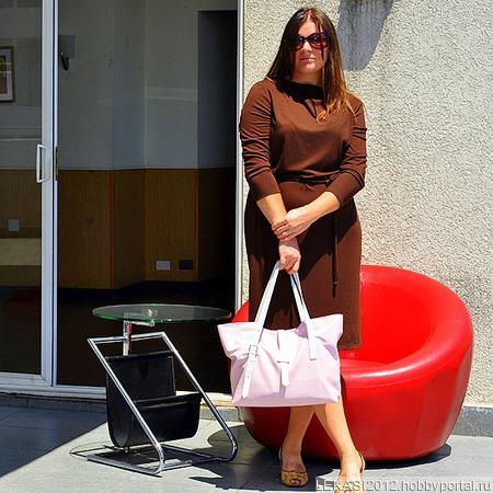 "Летняя кожаная сумка ""Sweet"" нежно-розовая ручной работы на заказ"