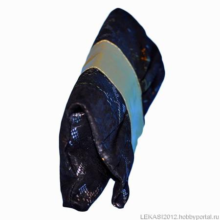 """Кожаный клатч """"Butterfly"""" черно-золотая змея ручной работы на заказ"""