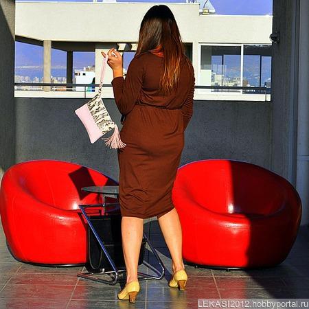 """Нежный женский розовый кожаный клатч """"Candy"""" ручной работы на заказ"""