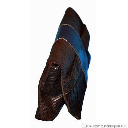 """Кожаный клатч """"Butterfly"""" шоколадная зебра коричневая ручной работы на заказ"""