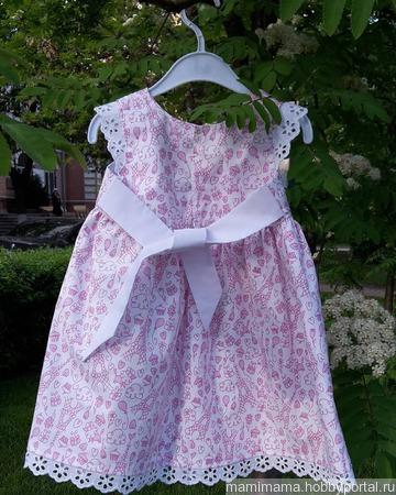 Летнее платье для девочки ручной работы на заказ