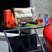 """Кожаный клатч """"Francesca"""" бежевый / серый / коричневый"""