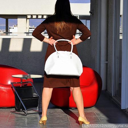 """Стильная кожаная сумка """"Charm"""" жемчужина ручной работы на заказ"""