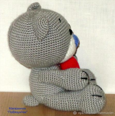 Влюбленный мишка ручной работы на заказ