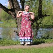Платье летнее бохо-шик из хлопка