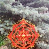 Декоративное настенное панно-мандала