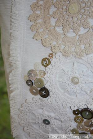 Белая летняя сумка бохо ручной работы на заказ