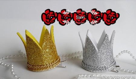 Корона для маленькой принцессы ручной работы на заказ