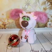 Игрушка вязаная Собачка Розочка