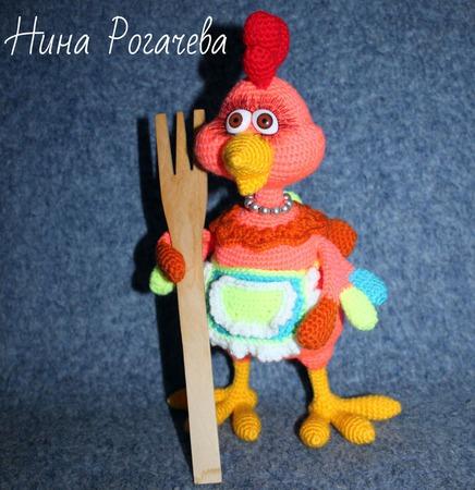 Игрушка вязаная Курочка Кира ручной работы на заказ