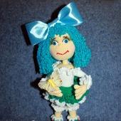 Кукла вязаная Мальвина