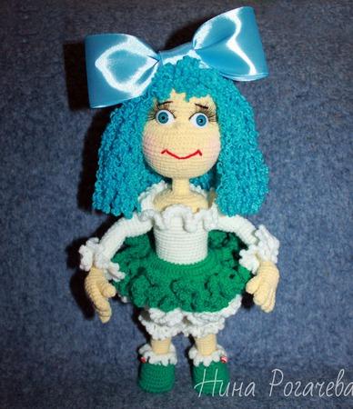 Кукла вязаная Мальвина ручной работы на заказ