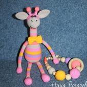 Набор: Жираф-погремушка + грызунок