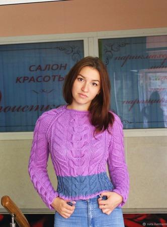Кроп свитер ручной работы на заказ