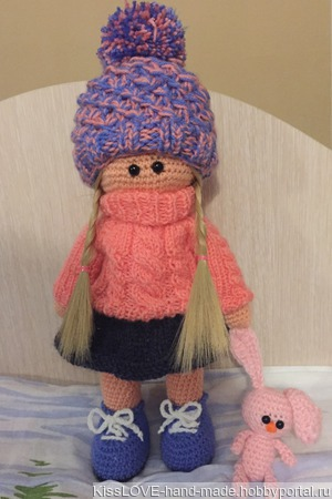 Куколка Мила со своей Зайкой ручной работы на заказ