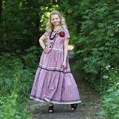 Платье хлопковое в стиле бохо