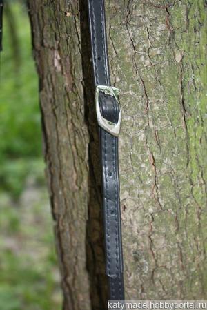 Сумка женская черная кросс-боди ручной работы на заказ