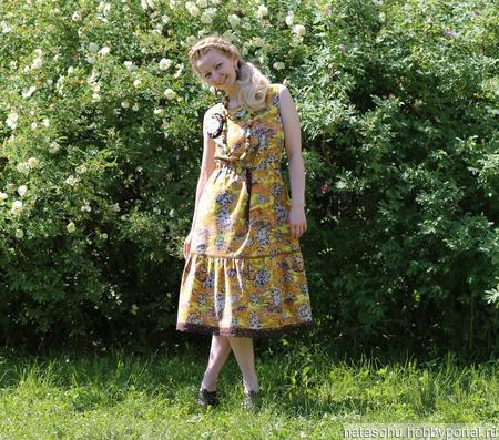 Платье хлопковое летнее ручной работы на заказ