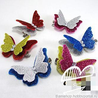 "Заколки ""Бабочки"" ручной работы на заказ"