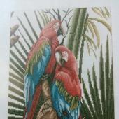 """Набор для вышивания Ланарт(Голландия) """"Зеленокрылые попугаи Ара"""""""