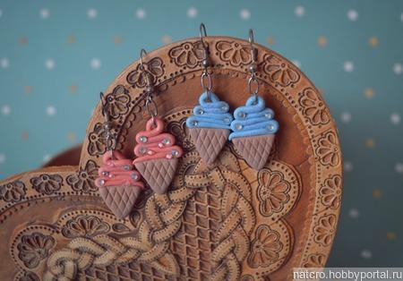 Серьги мороженки ручной работы на заказ