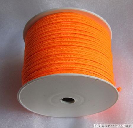 Сутаж греческий оранжевый неон ручной работы на заказ