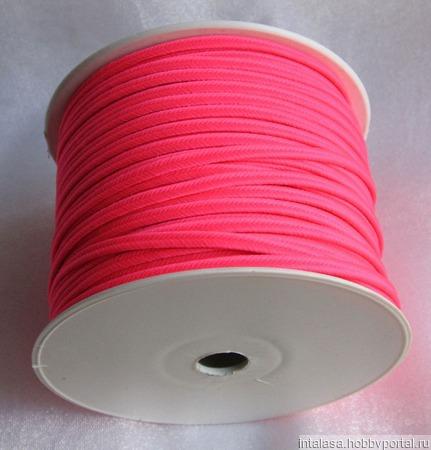 Сутаж греческий розовый неон ручной работы на заказ