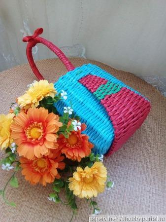 "Плетеная детская сумочка ""Красная шапочка"" ручной работы на заказ"